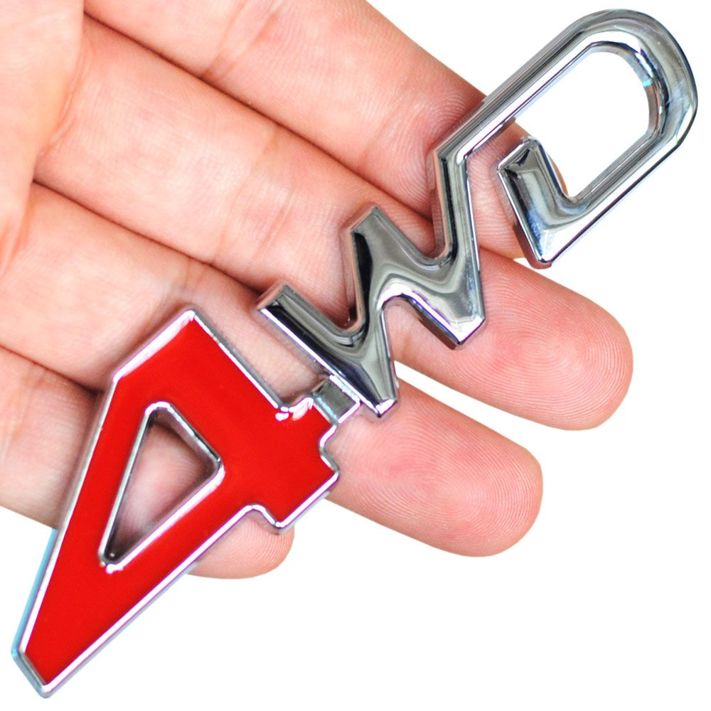 Car Tail Rear Side Metal 4x4 Rc Car 4wd Sticker 3d Chrome Badge Car Emblem Badge Decal Auto Decor Styling 4wd Red For S Car Emblem Exterior Accessories Rc Cars [ 1000 x 1000 Pixel ]