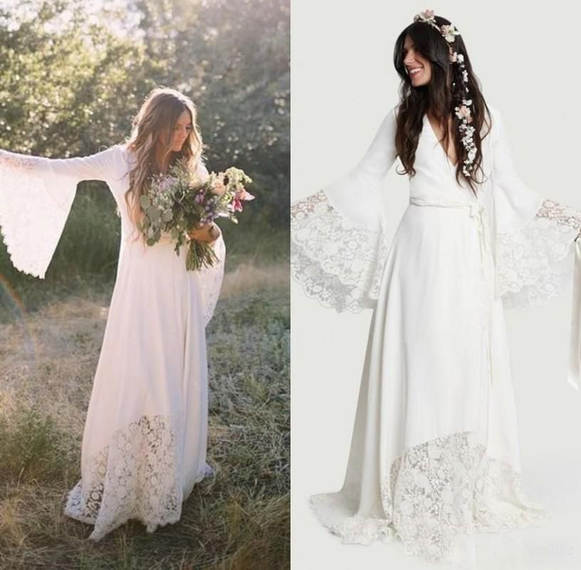 2019 Mermaid Wedding Dresses Full Lace Appliques Summer Beach