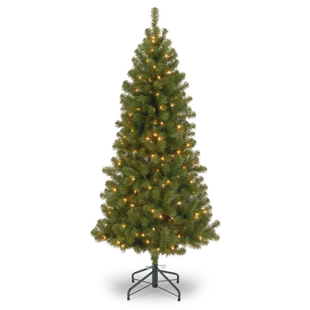 7 Ft Canadian Grande Fir Tree With Clear Lights Green National Tree Company Canadi Christmas Tree Clear Lights Fir Christmas Tree Artificial Christmas Tree