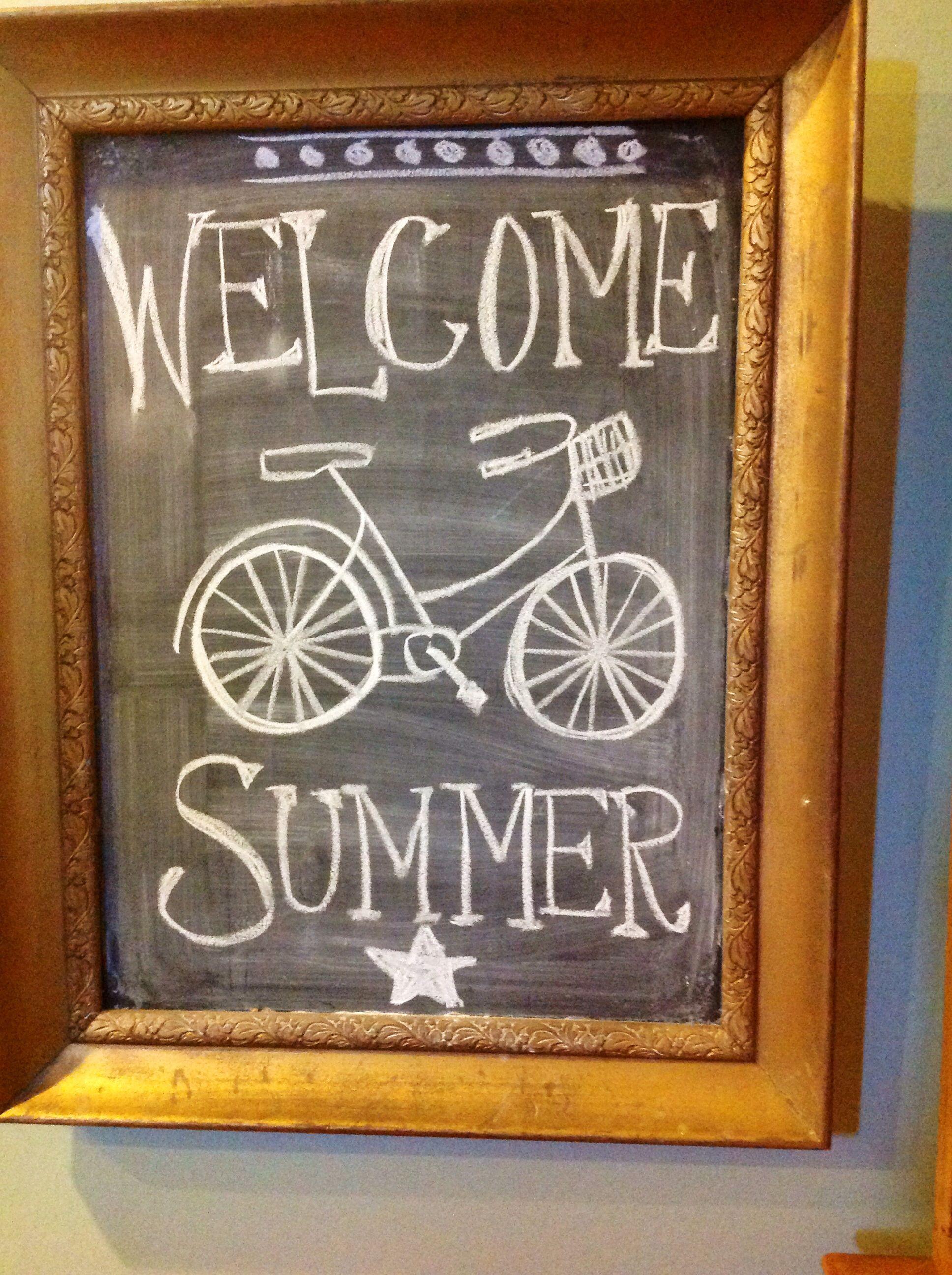 summer chalkboard my makes pinterest summer chalkboard