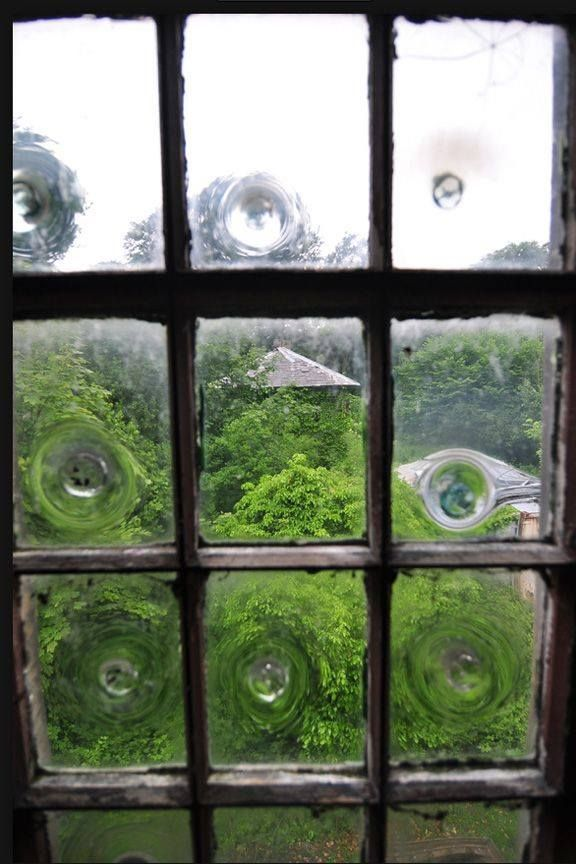 Old Bullseye Gl Window Panes Used To Be Called Poor Mans Since The Smooth Was For More Affluent Homes