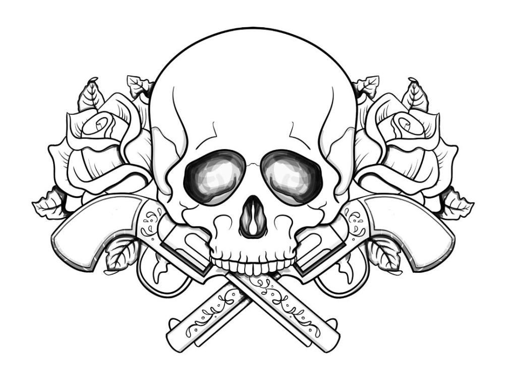 Free Skull And Guns Coloring Pages If youre in the market for
