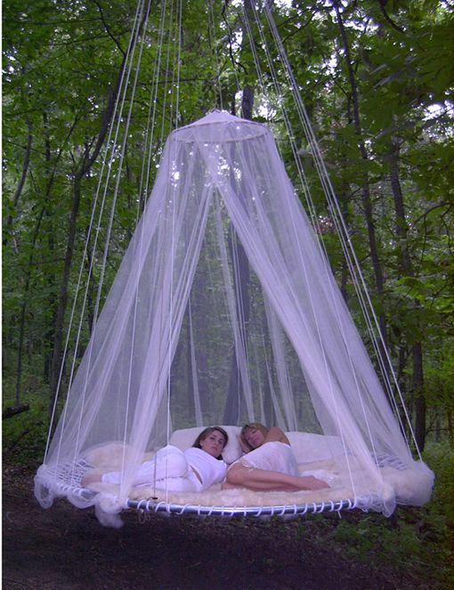 Maybe A Trampoline Frame Could Be Used To Make This Bed