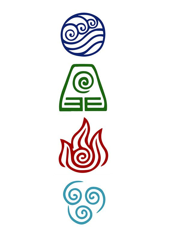 Avatar four elements sticker by daljo tatouages id es - Tatouage 4 elements ...
