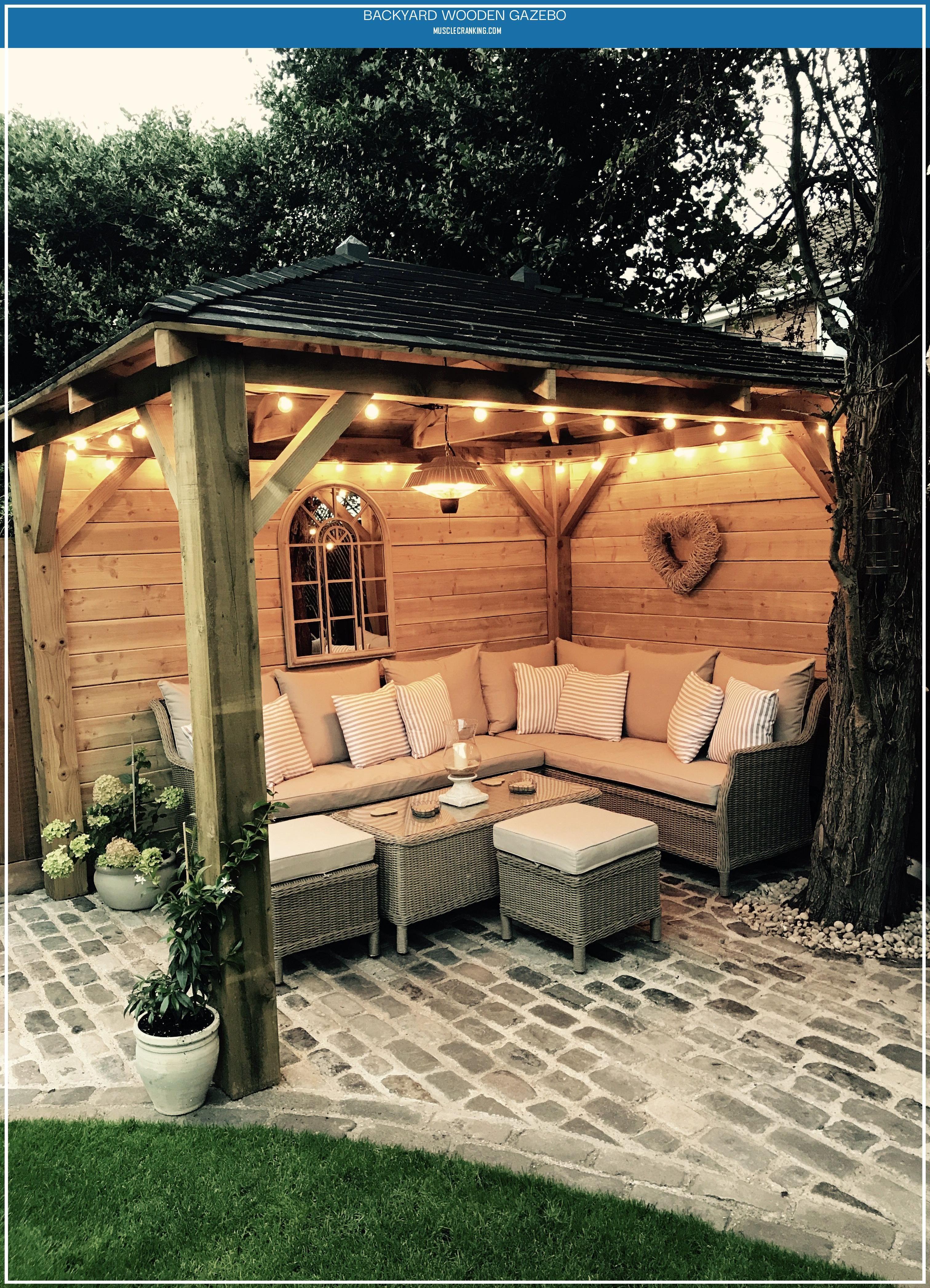 backyard wooden gazebo 2021 patio