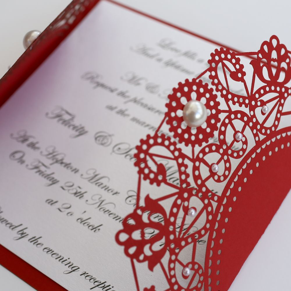 red wedding invitations | Red Wedding Invitations | Pinterest | Red ...
