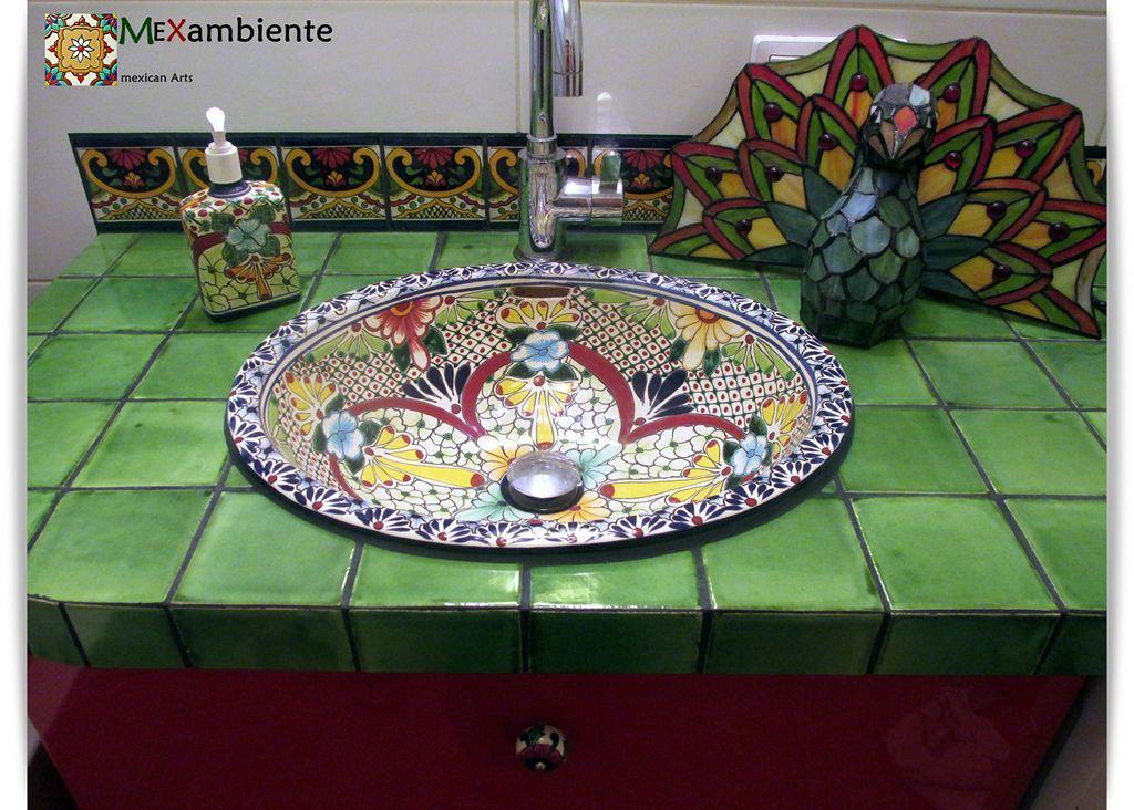 Originelles Design WASCHBECKEN Aus Mexiko Mit Bunten Fliesen. Bei  Mexambiente In Deutschland Bestellbar. #