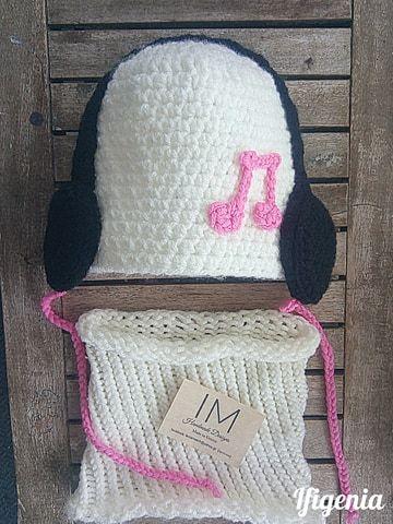 Πλεκτό σκουφάκι με ακουστικά, Crochet Baby Hats Crochet baby hat ...