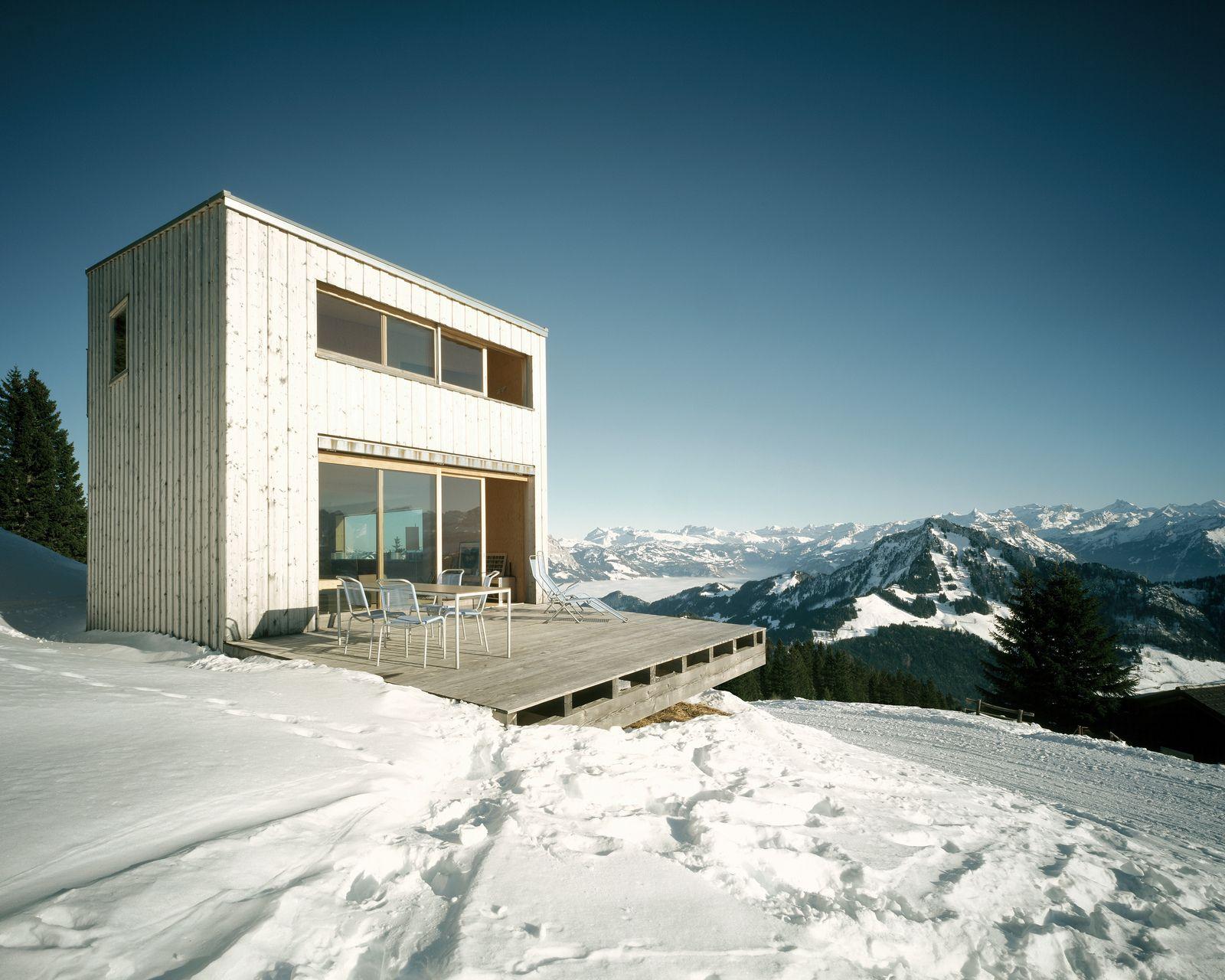Ferienhaus wohnen modernen kabinen moderne häuser schweizer alpen architektur innenarchitektur zeitgenössische architektur home interior design