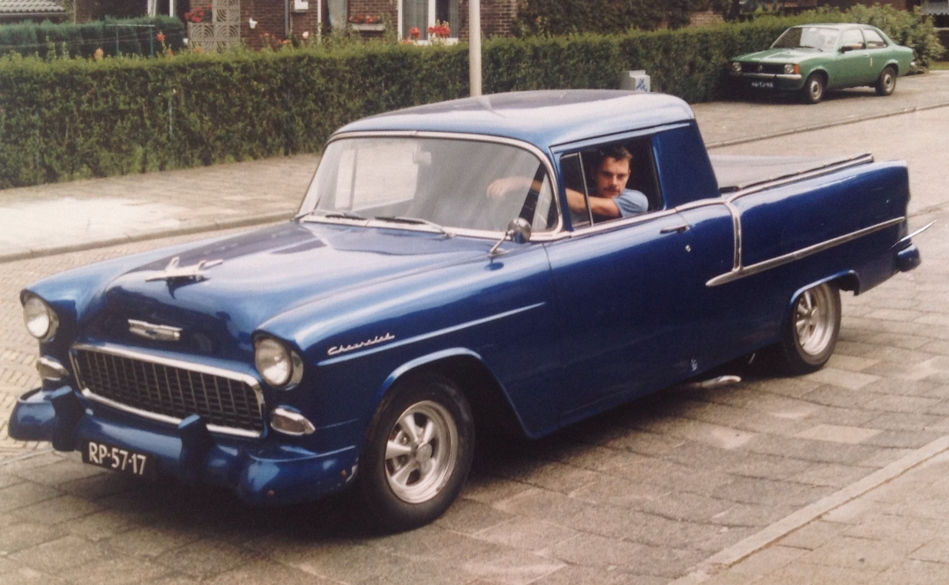 Mine 1955 Chevy BelAir first an 4 doors than a hearse and rebuild