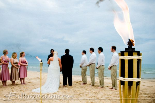 Outdoor September Wedding At Silver Beach Along Lake Michigan In Saint Joseph Emily