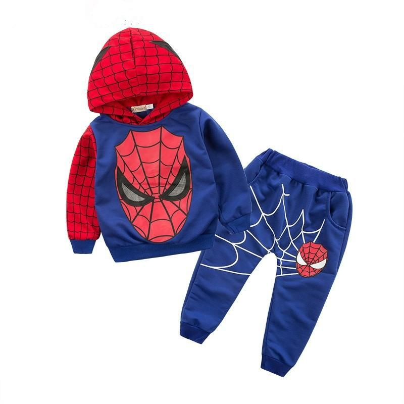 Kids Boys 2//3Pcs Superhero Spiderman Sweatshirt Hoodie Jacket Pant Tracksuit Set