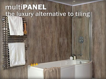Economic pvc cladding waterproof bathroom walls by multipanel house bath pinterest Bathroom designs wood paneling