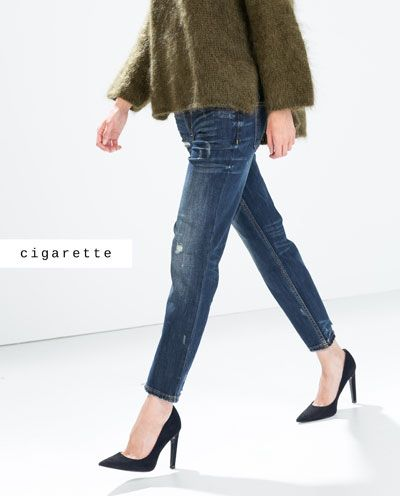 Relaxed Cigarette Jeans from Zara R799,00