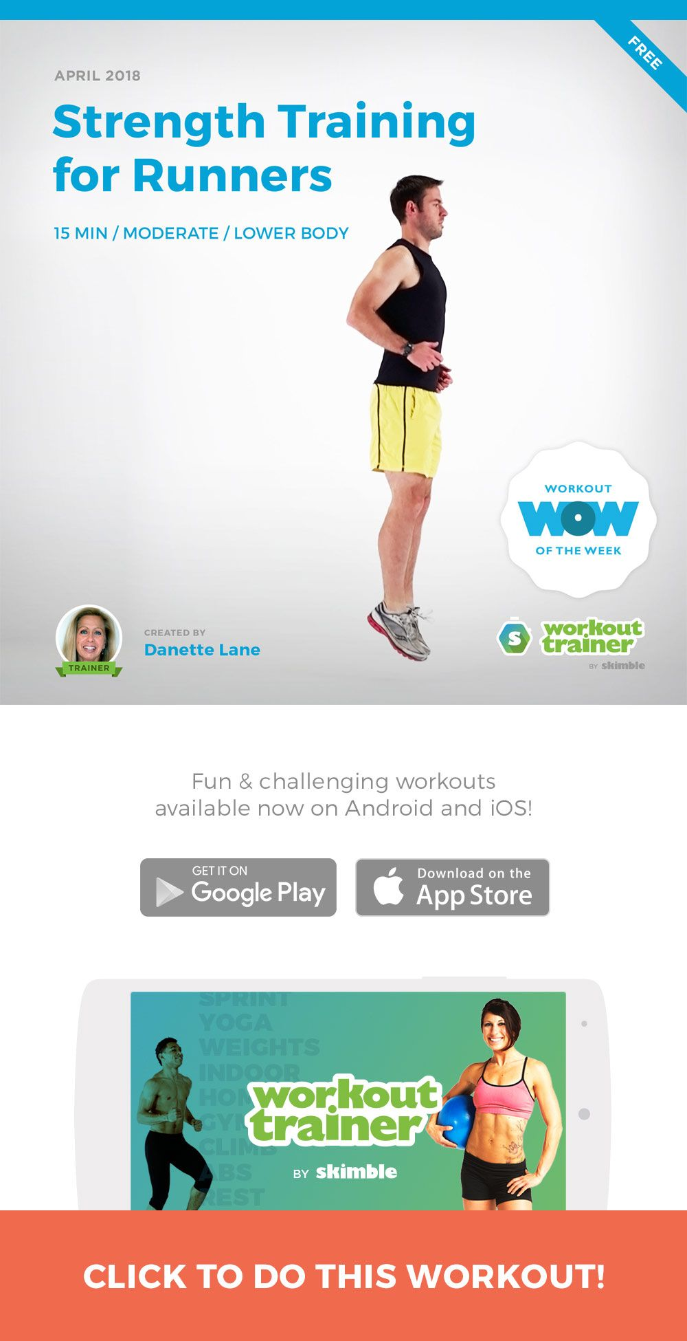 Strength Training For Runners Free Workout Of The Week Pinterest Beginning Circuitry Build A Metronome Designed To Strengthen Your Core Hamstrings And Hip Flexors More Efficient Running Use Do Pogo Hops 180bpm