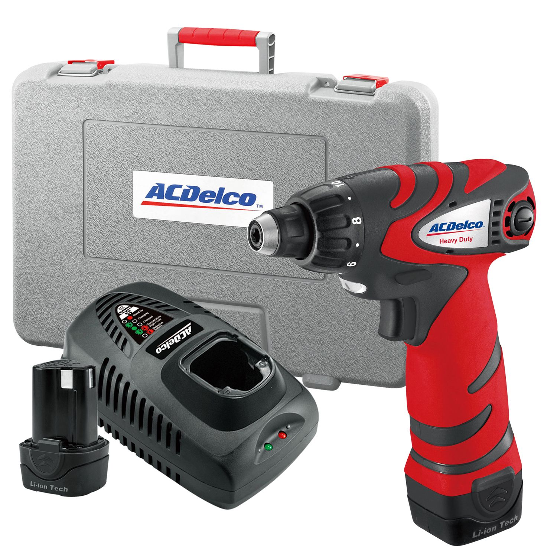 Acdelco Ard12113 Li Ion 12v Drill Driver Kit Impact Driver Corded Drill Drill