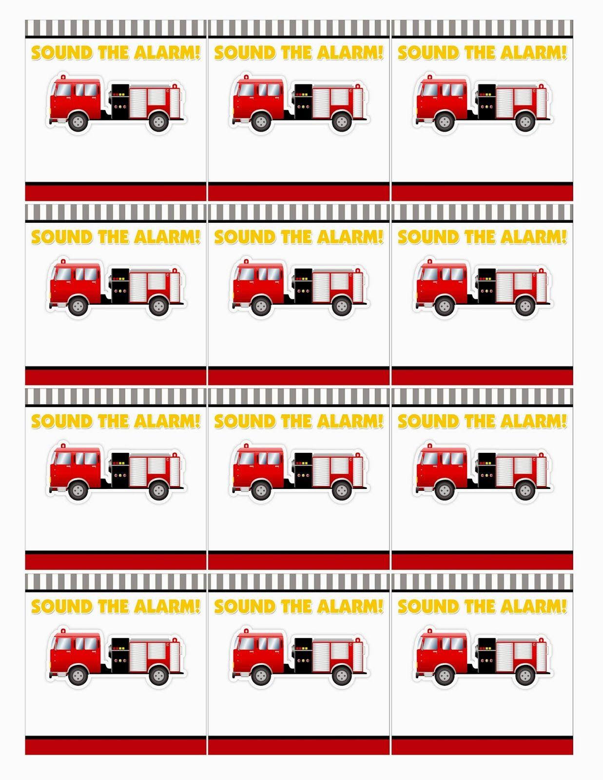 Kit de Bomberos para Imprimir Gratis. | Firetruck Theme Birthday ...