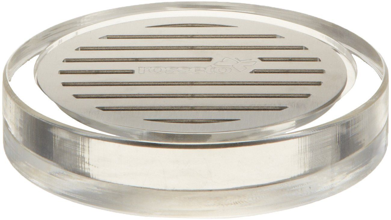 Rosseto | LD127 Round Acrylic Drip Tray with Stainless Steel Insert for Beverage Dispensers #Banquet #Catering #FoodPresentation #Rosseto