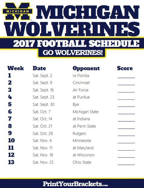 2017 Michigan Wolverines Football Schedule Michigan Wolverines Football Schedule Michigan Wolverines Football Wolverines Football