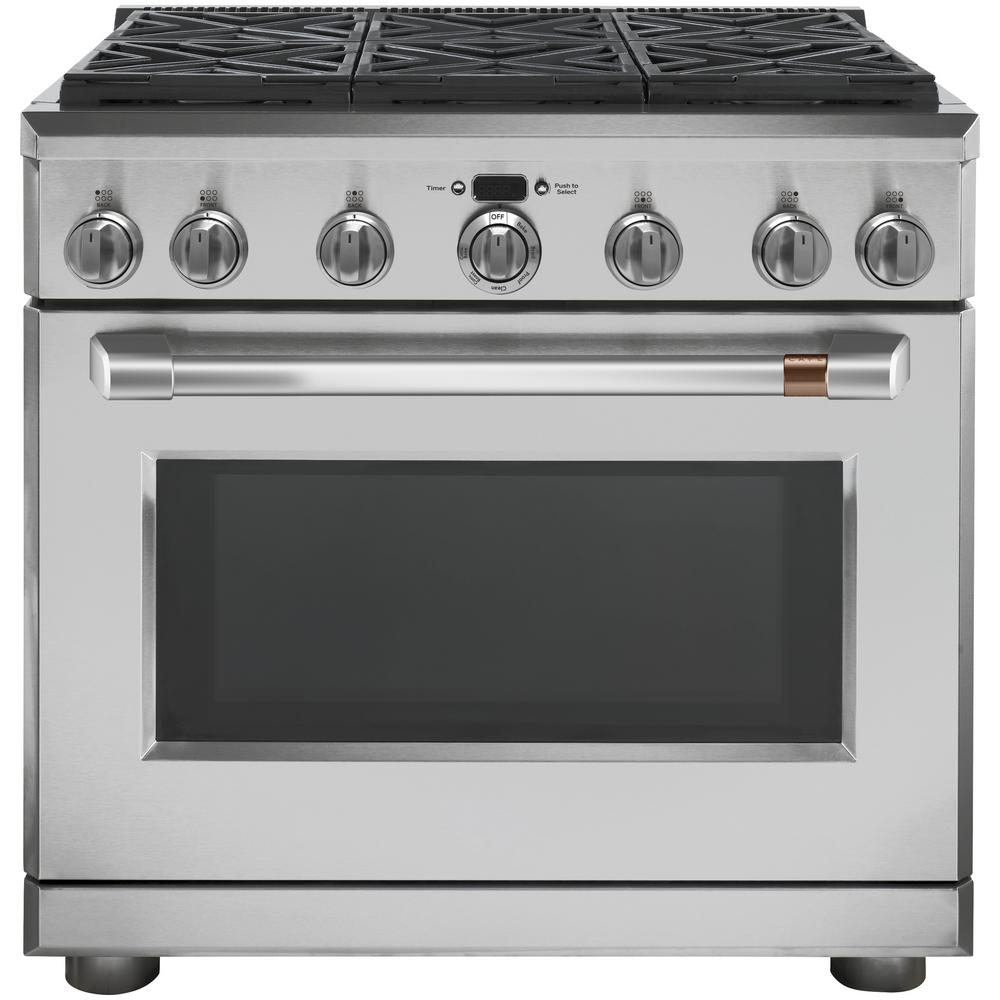 Cafe 36 In 6 2 Cu Ft Gas Range With Self Cleaning Convection