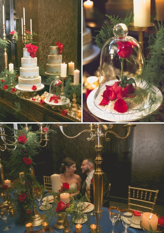 Beauty And The Beast Wedding Inspiration A Princess Inspired Blog Winte Beauty And The Beast Theme Beauty And Beast Wedding Christmas Wedding Centerpieces