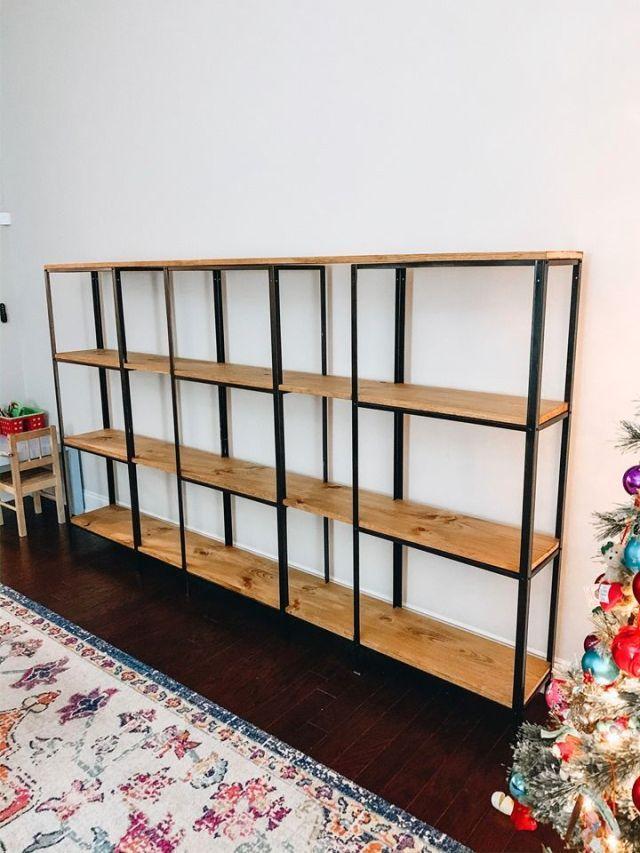 DIY IKEA BOOKSHELF HACK
