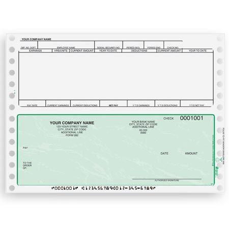 Cb351 Continuous And Dot Matrix Payroll Check
