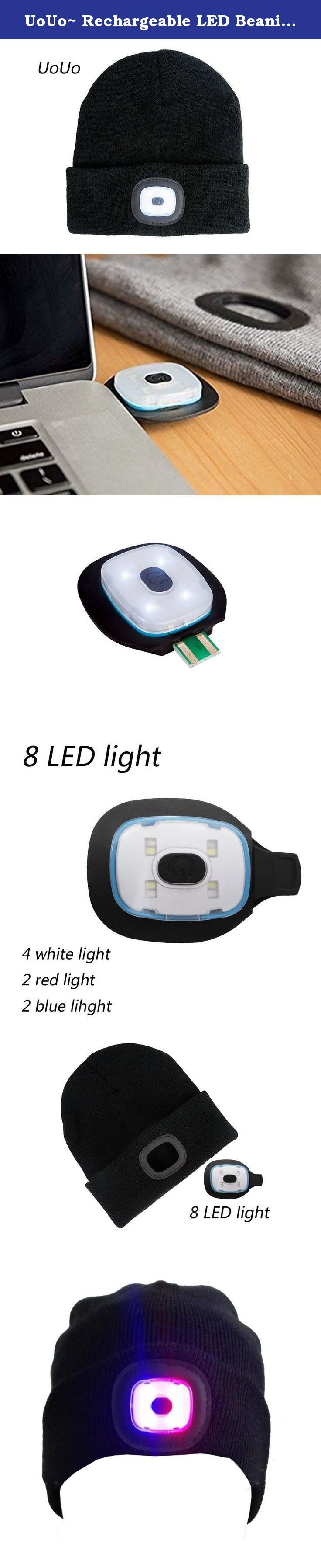 acfa3b193a2 UoUo~ Rechargeable LED Beanie