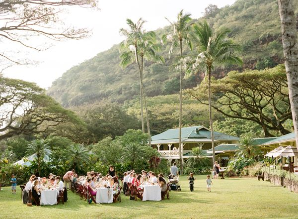 Elegant Oahu Wedding Oahu Austin Wedding Venues Waimea Valley