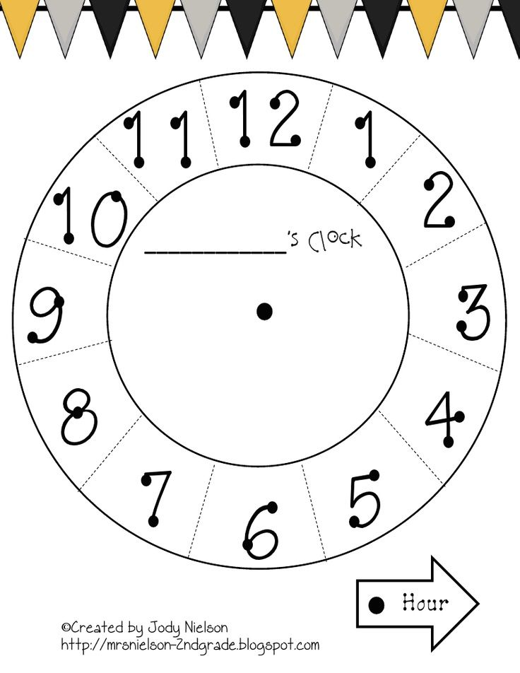Printable Clock Face For Paper Plate Math Pinterest Clock - clock templates