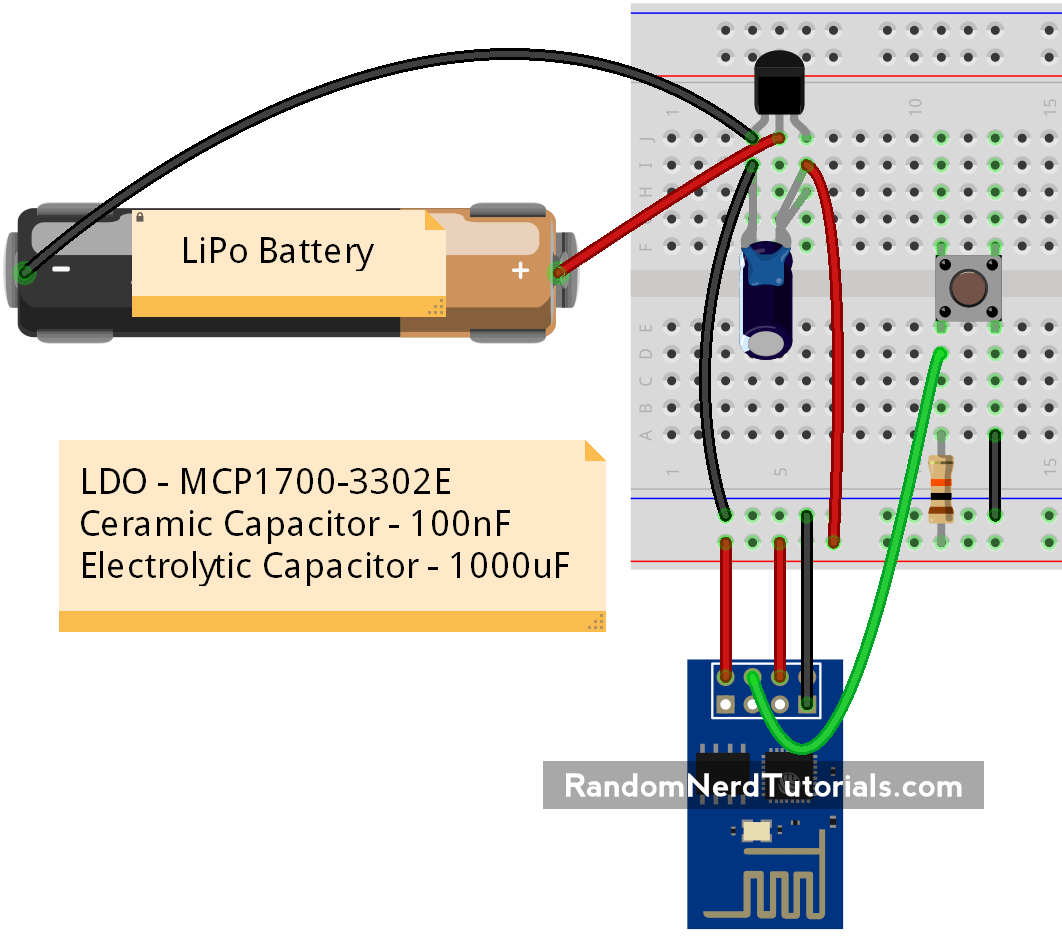In This Project Youre Going To Build An Esp8266 Wi Fi Button That Water Level Indicator Circuit Gadgetronicx Can Trigger Any Home Automation Event Is Like A Remote Control You Take