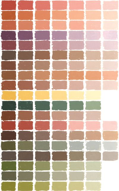 Soft Pastel Color Chart Imagine Your Kitchen Cabinets In
