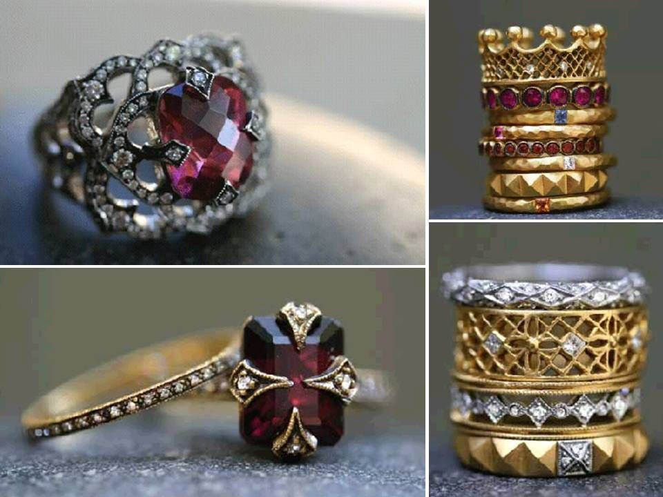 i like the lower left medieval looking one regal engagement rings - Medieval Wedding Rings
