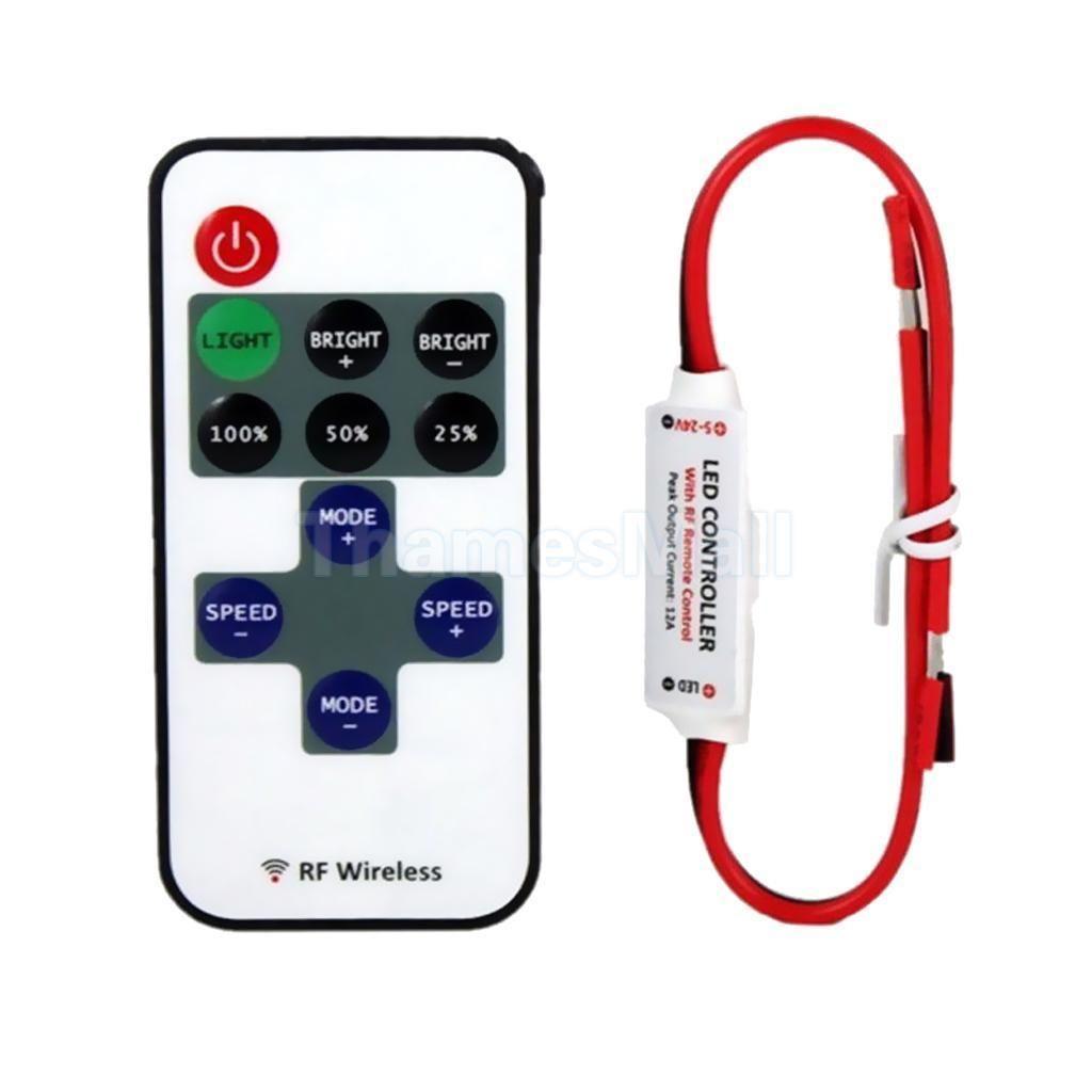 12v Rf Wireless Remote Switch Led Controller Dimmer Caravan Mini Strip Light Ebay Home Garden Strip Lighting Led Dimmer Rgb Led Strip Lights