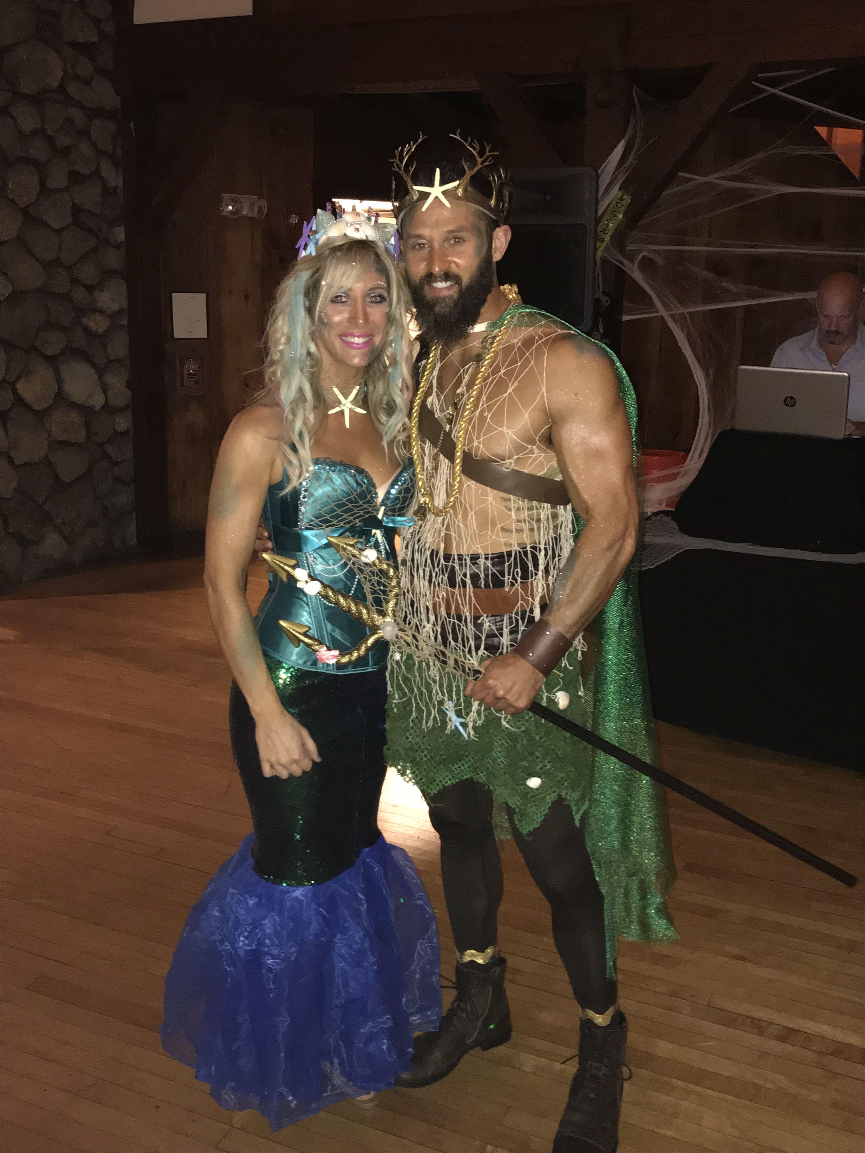 halloween costumes mermaid and poseidon   holiday fun   pinterest