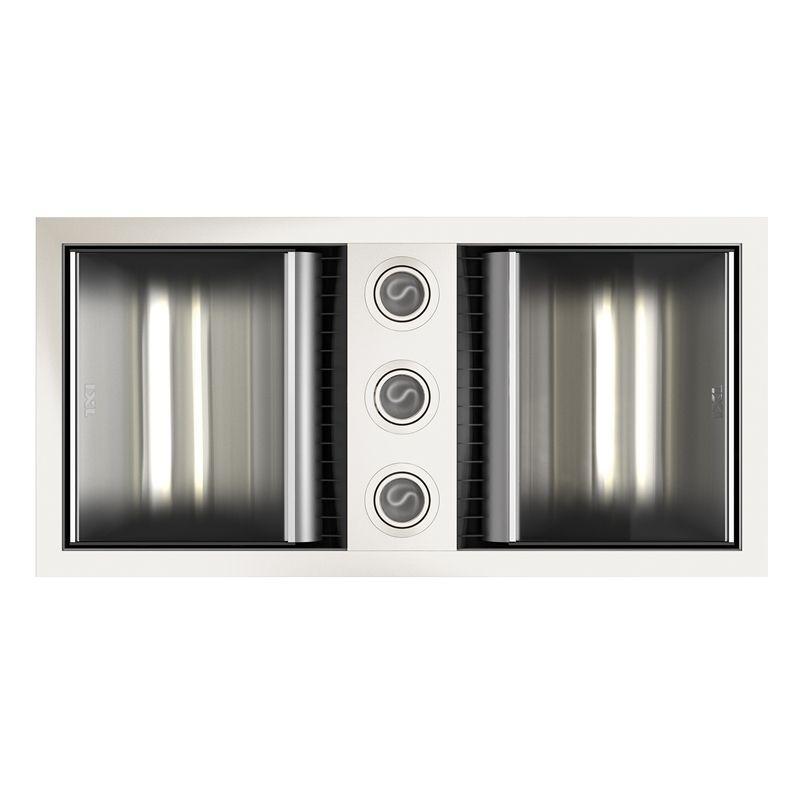 IXL 3 In 1 Neo White Bathroom Fan Heater With Dual Light