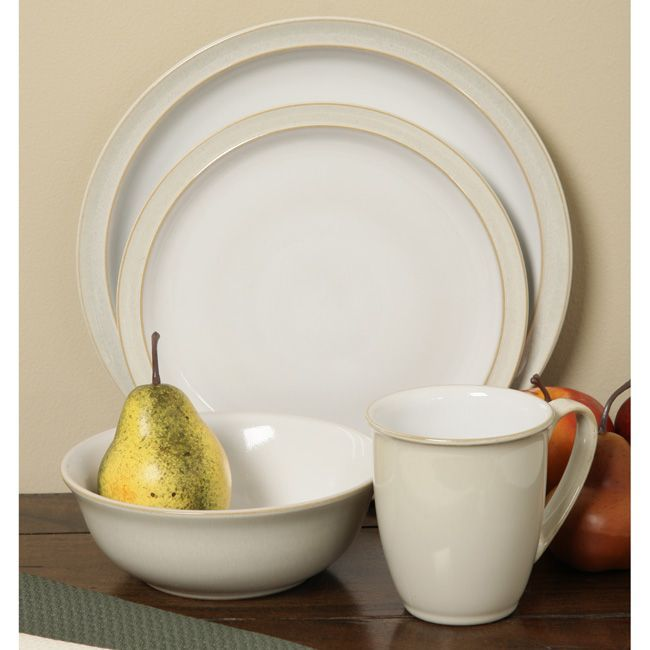 Casual Dinnerware For Less & Denby Linen 16 -piece Dinnerware Starter Set - Overstock™ Shopping ...