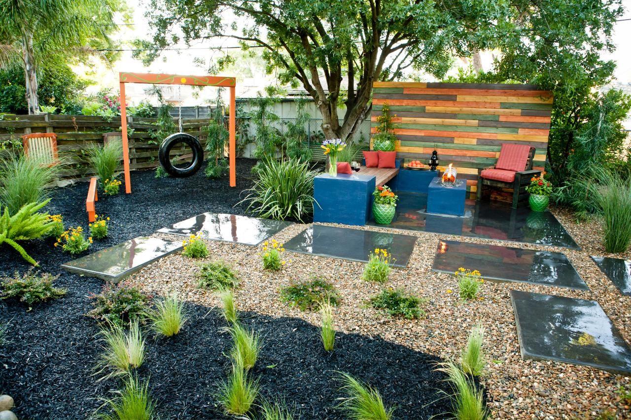 Eclectic Backyard With Tire Swing Backyard Yard Crashers Backyard Creations