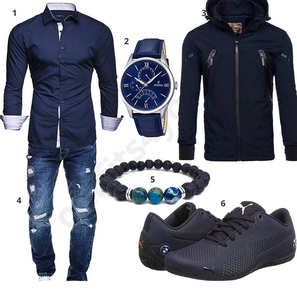 Mit JackeHerren Blaues Und Herrenoutfit HemdJeans shQtCrdx