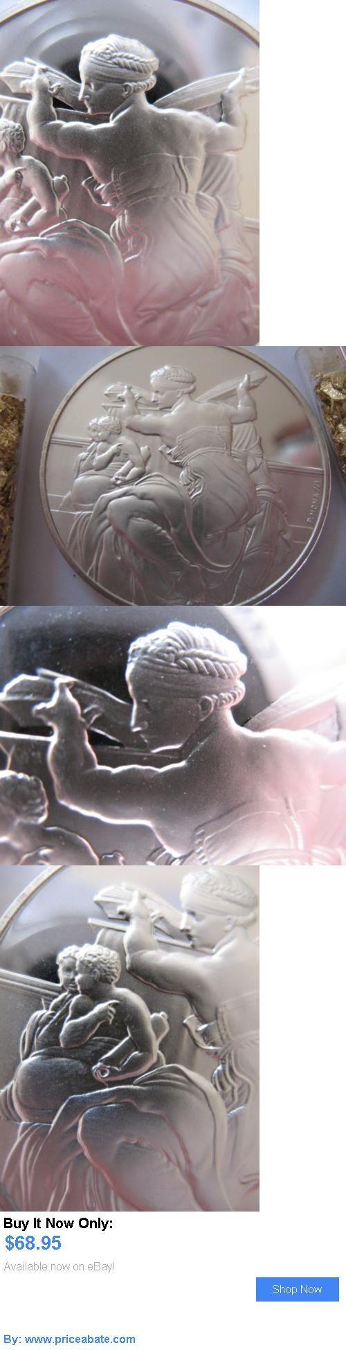 Bullion: 1.3-Oz 925 Silver Coin Sistine Chapel Genius Of Michelangelo Libyan Sybil  Gold BUY IT NOW ONLY: $68.95 #priceabateBullion OR #priceabate