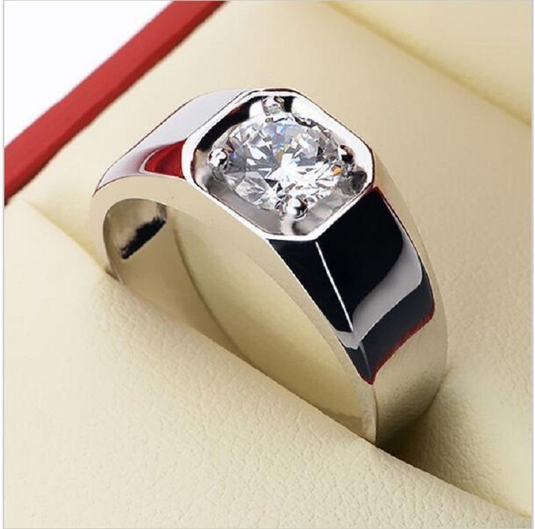 Engagement Diamond Ring For Boy Wedding Ring 14k White Gold