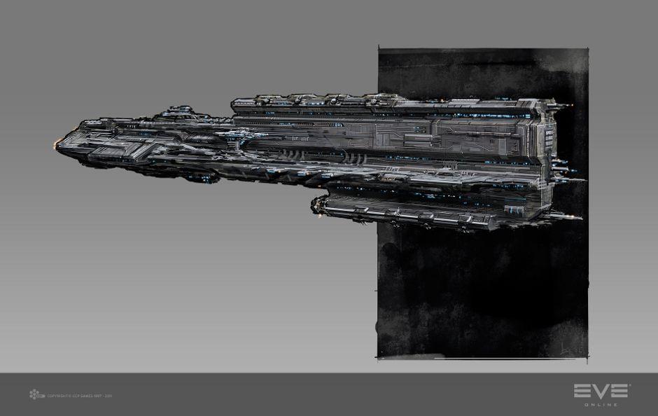 Rokh Battleship Concept - Concept Art - EVE Online