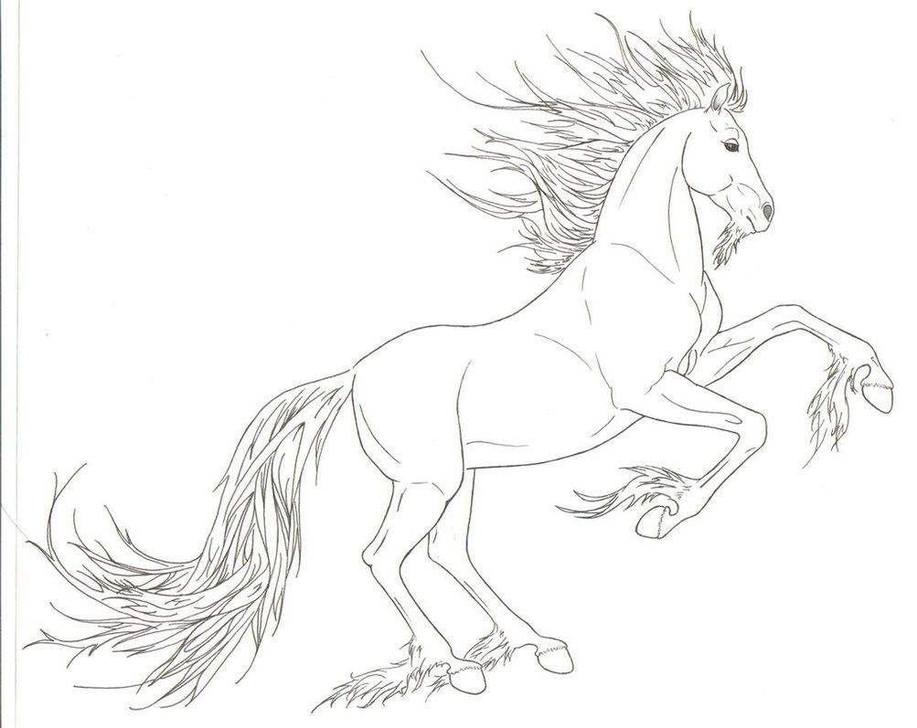 arabian unicorn lineart by requay deviantart com on deviantart