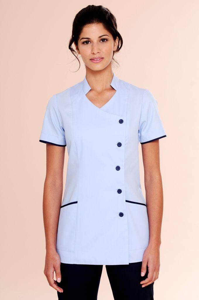 Nursing uniform tunic l2 egreso sandra nursing tunic for Spa uniform patterns