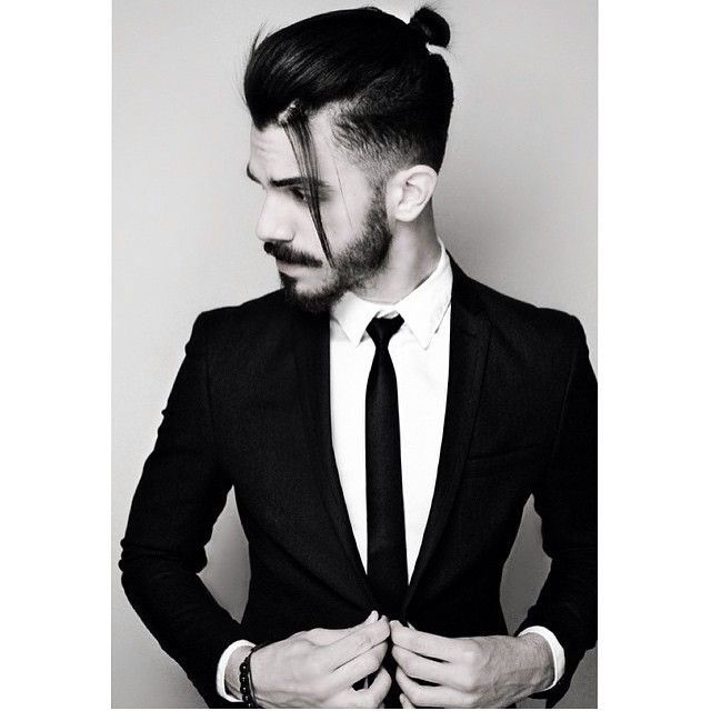 Man Bun And Suits Are A Great Formal Look Man Bun Hairstyles Long Hair Styles Men Hair Styles
