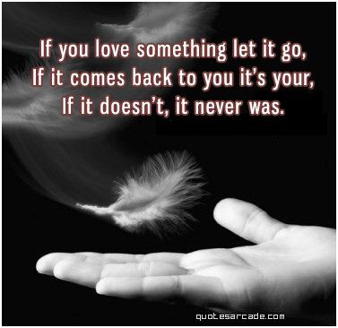 Let It Go..........If it is your it will come back.......to you.