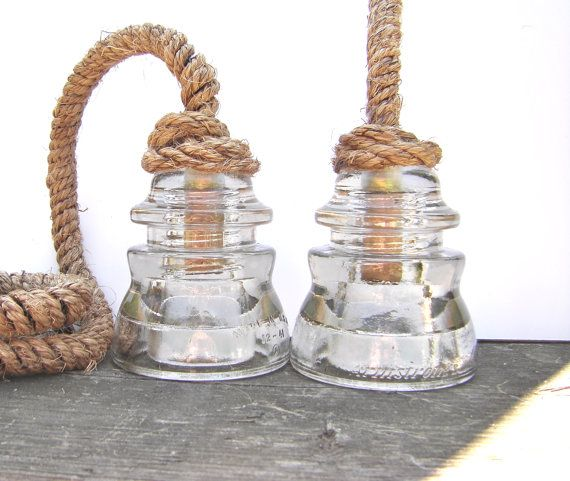 UPGRADE- Antique Rope Cord For Insulator Pendant Lights