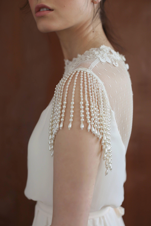 Wedding dresses vintage modest lace wedding dress sleeves high