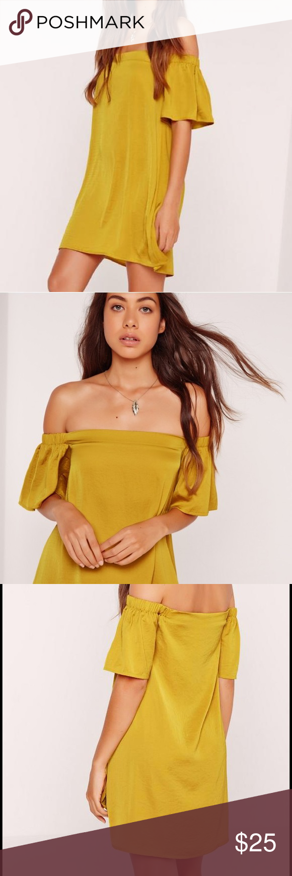 Bardot Swing Dress in Chartreuse Never worn! This dress is sold out on the website! I am selling because it is too big for me. Missguided Dresses