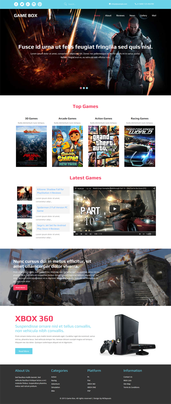 Top 10 Best And Free Games Html Website Templates Templates